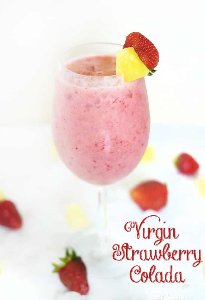 Virgin Strawberry Colada! Cool sweet drink.
