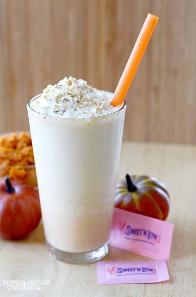 Pumpkin Pie Protein Shake!! Yummy seasonal protein smoothie that is lower in carbs.