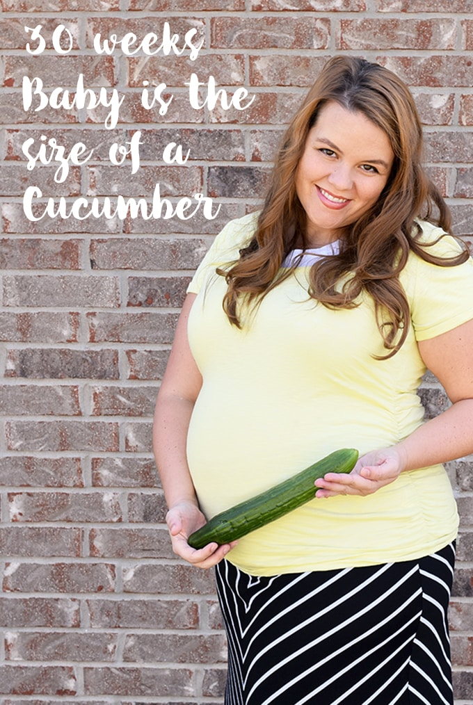 30 Weeks Baby is the size of a Cucumber!