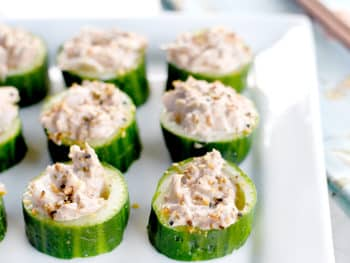 Asian-Inspired Tuna Salad in Cucumber Cups
