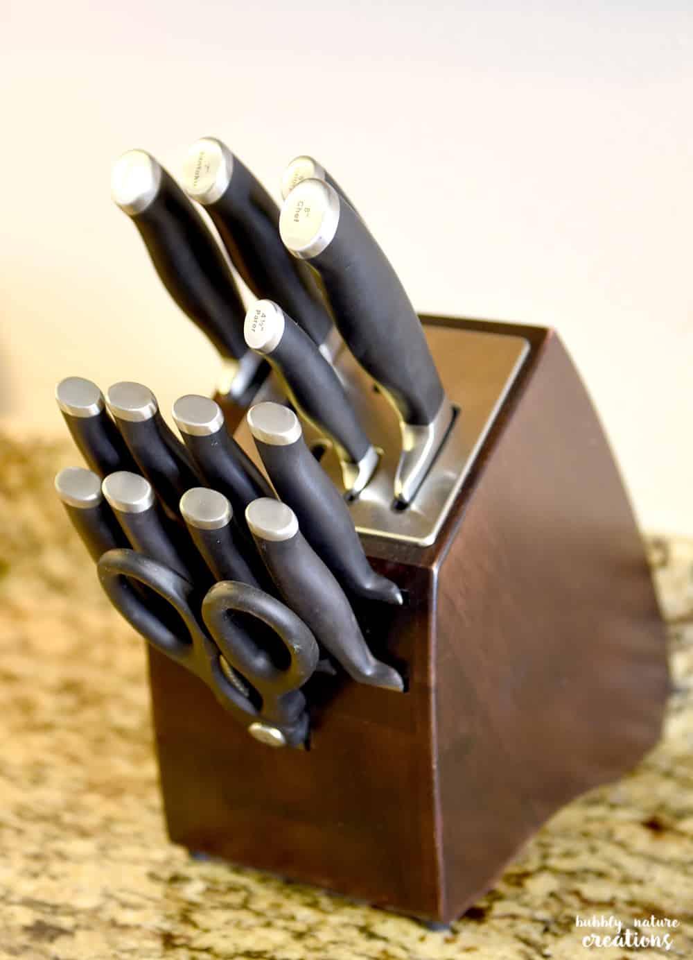 calphalon 15 piece knife set