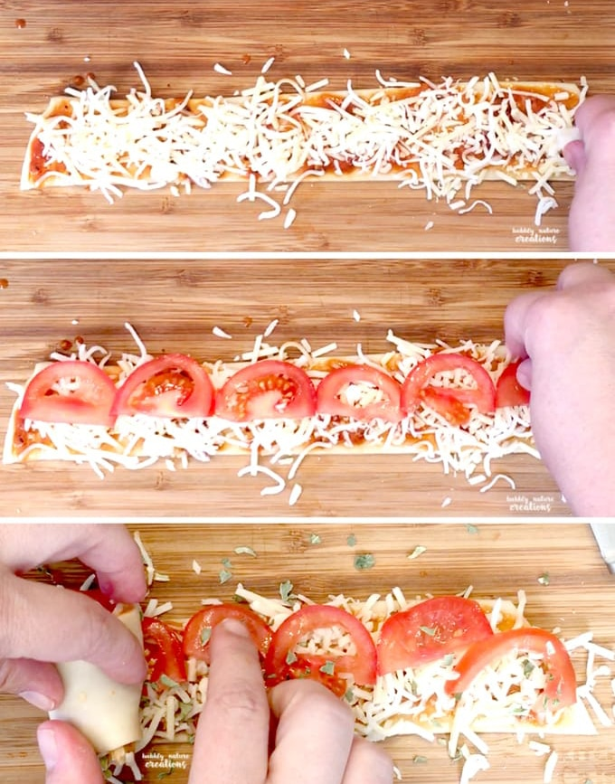 Pizza Roses rolling