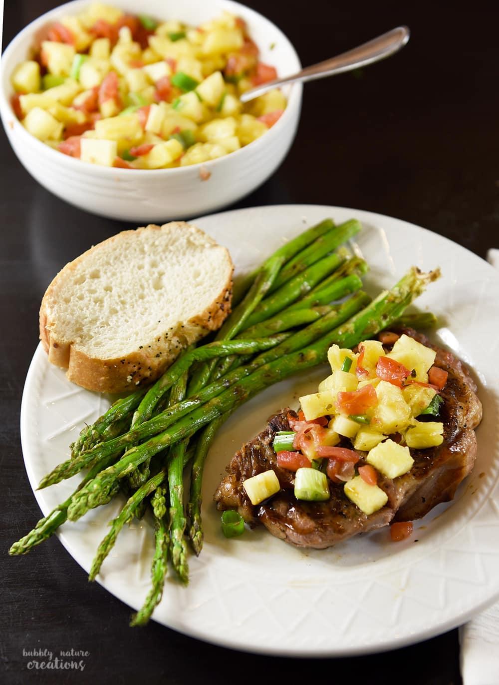 knifeskills teriyaki steak with pineapple salsa a great weeknight meal idea