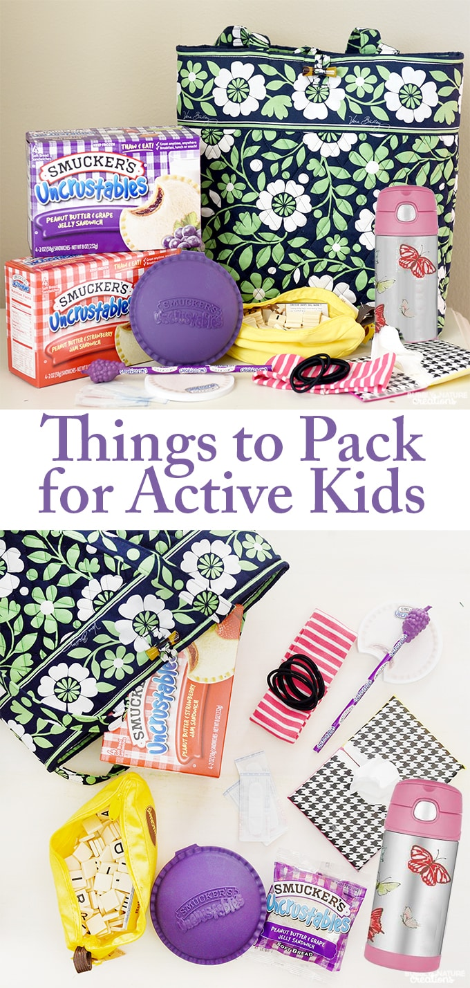 Things to Pack for Active Kids! Sports and other Extracurricular activities go much smoother when you are prepared ahead of time!