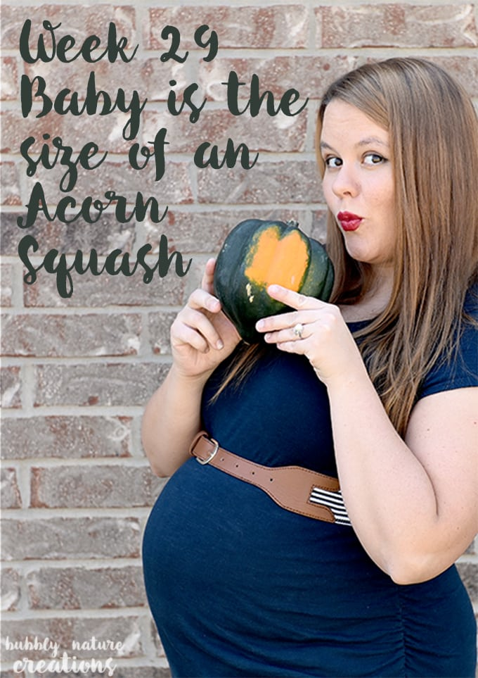 Week 29 Baby is the size of an Acorn Squash recipe on blog!