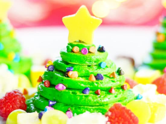 Christmas Tree Pancakes ⋆ Easy Christmas Breakfast Idea