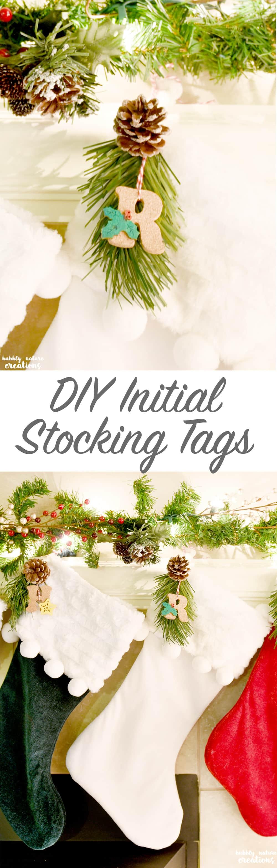 DIY Initial Stocking Tags ⋆ Sprinkle Some Fun