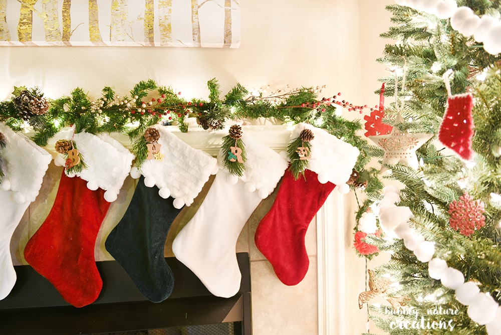 DIY Initial Stocking Tags!!. Such a cute way to personalize your Christmas stockings!