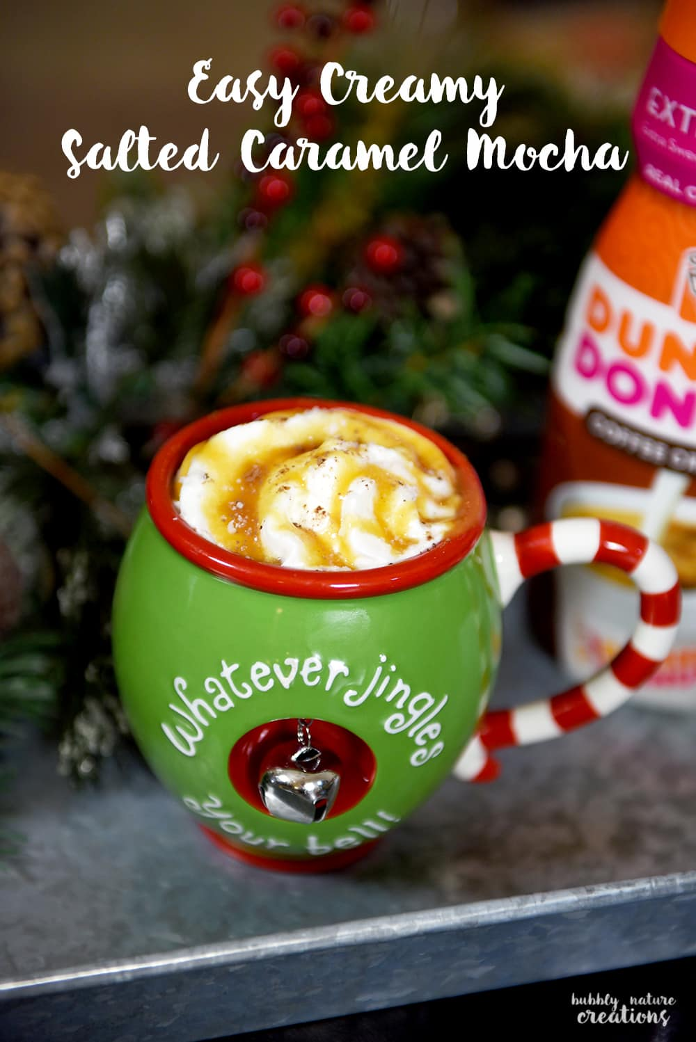 Easy Creamy Salted Caramel Mocha! If you love mochas then this easy at home version is for you!