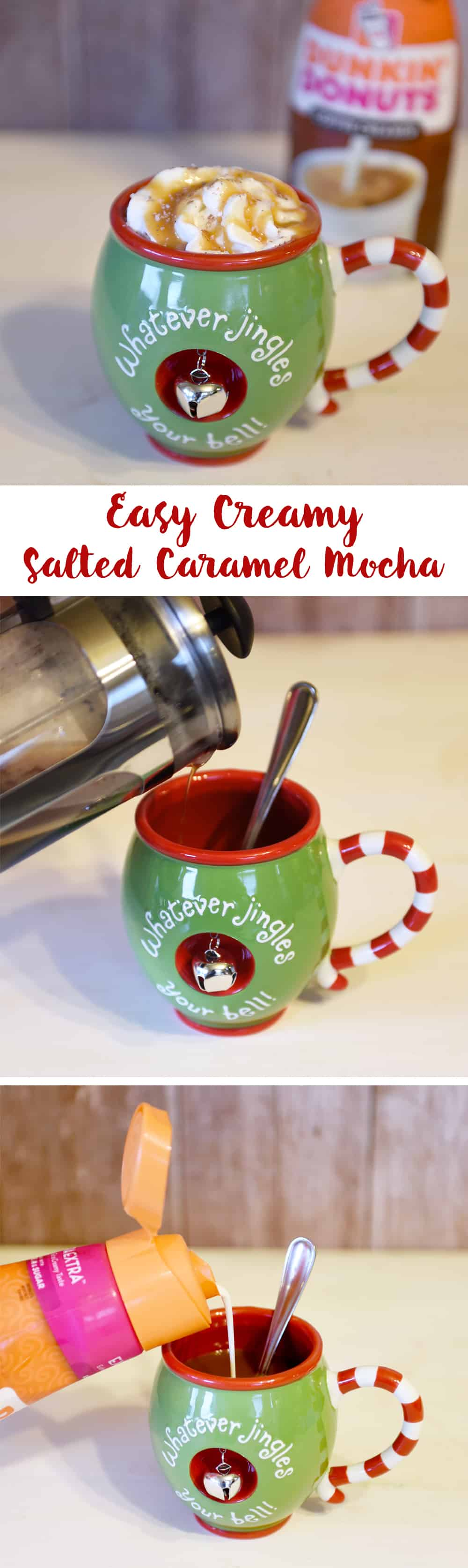 Easy Creamy Salted Caramel Mocha!! If you love mochas then this easy at home version is for you!!