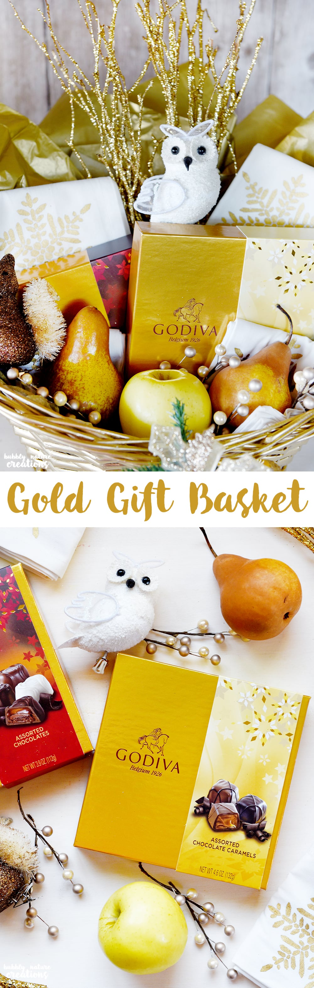 Gold Gift Basket Idea filled with Gold Colored Items! Easy Gift Idea for those that are hard to buy for!