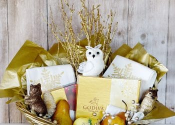 Gold Gift Basket {Gift Giving Ideas}