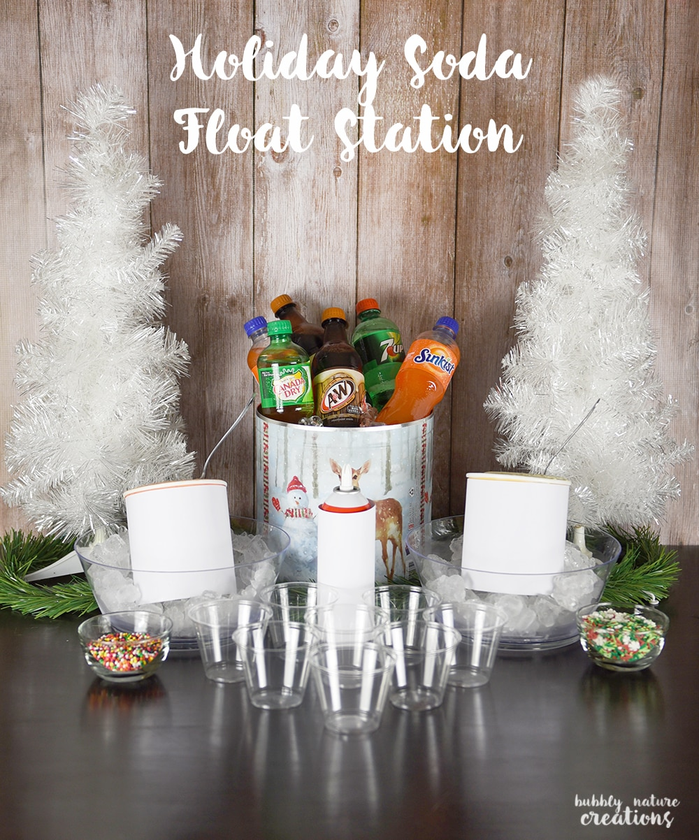 Holiday Soda Float Station!! This is a fun idea for any party!
