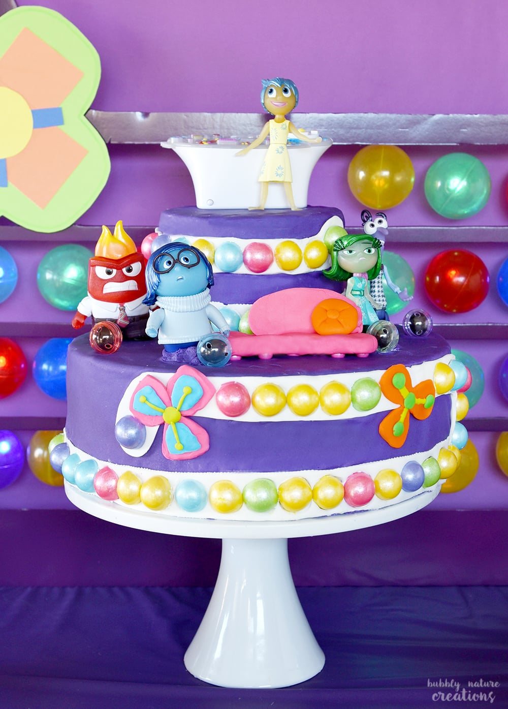 Inside Out Cake for the Ultimate Inside Out Movie Party!