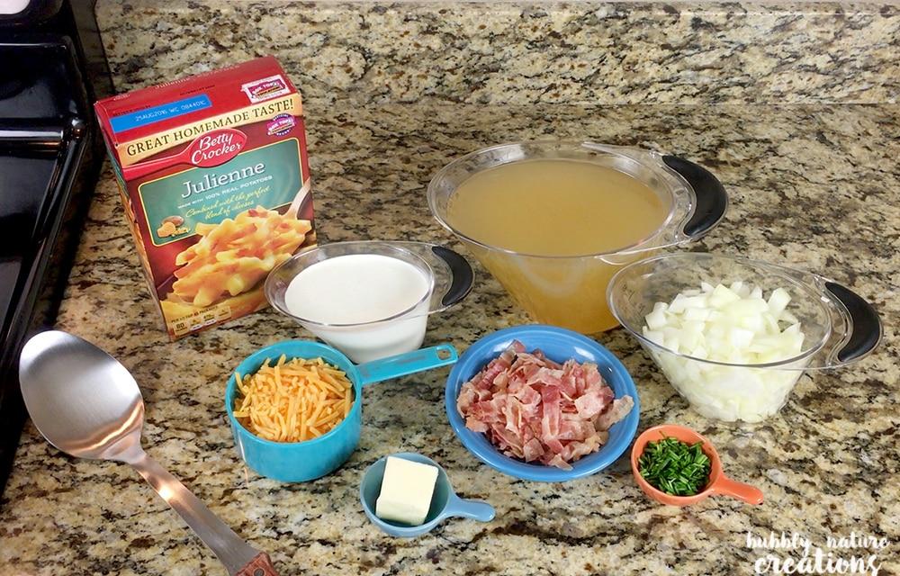Pototo Soup Ingredients