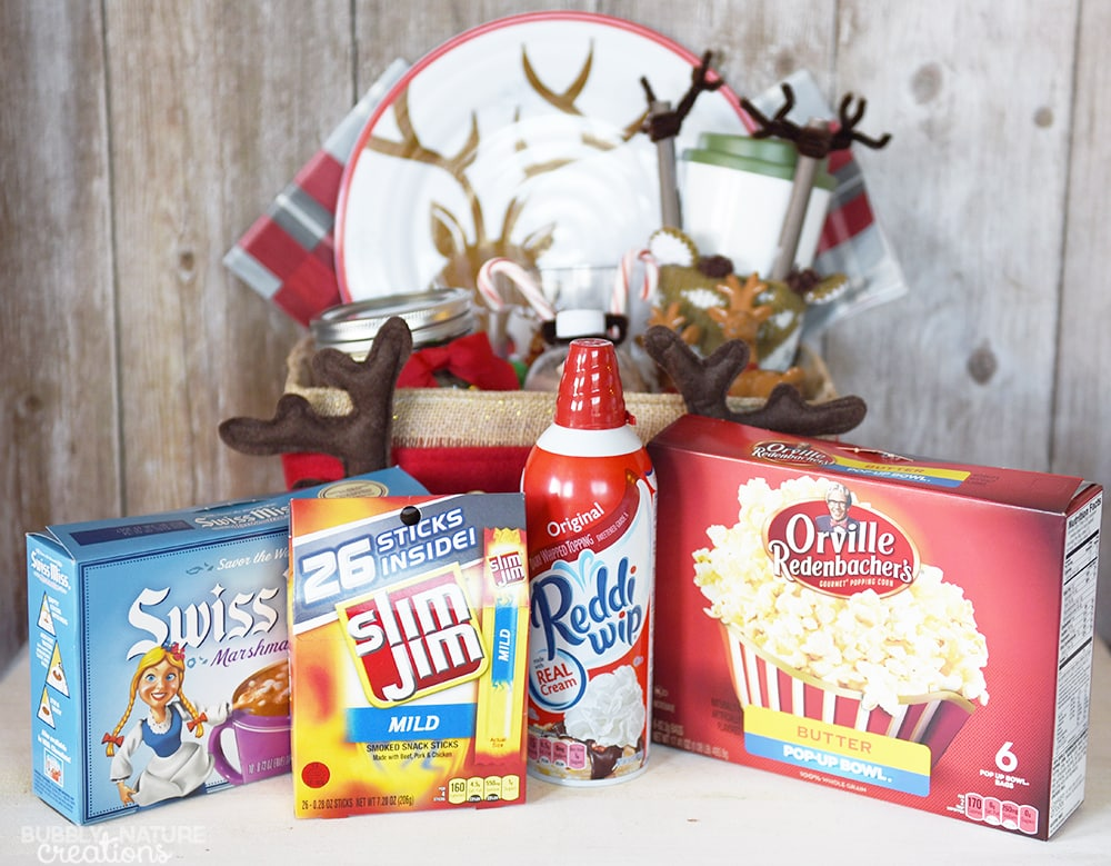 Reindeer Gift Basket idea!