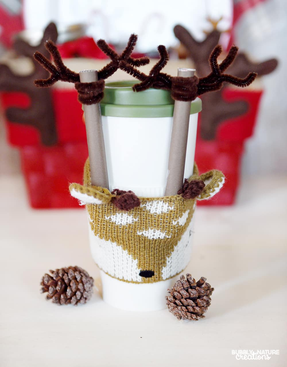 Reindeer Mug Idea with Slim Jims! So fun!