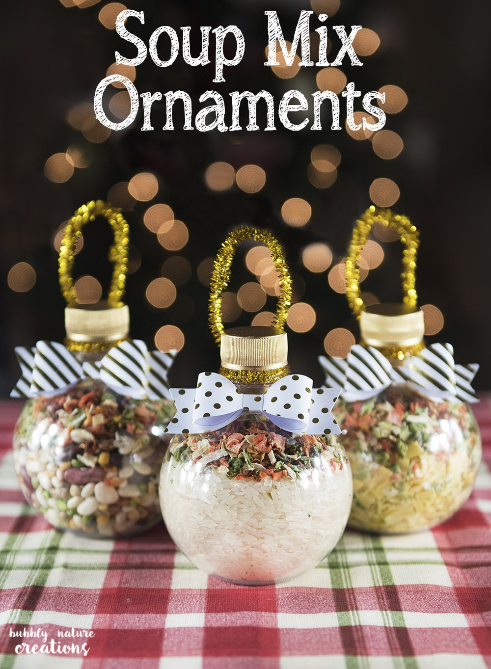 Hot Cocoa Mix Ornaments ~ DIY Homemade Christmas Gift Idea