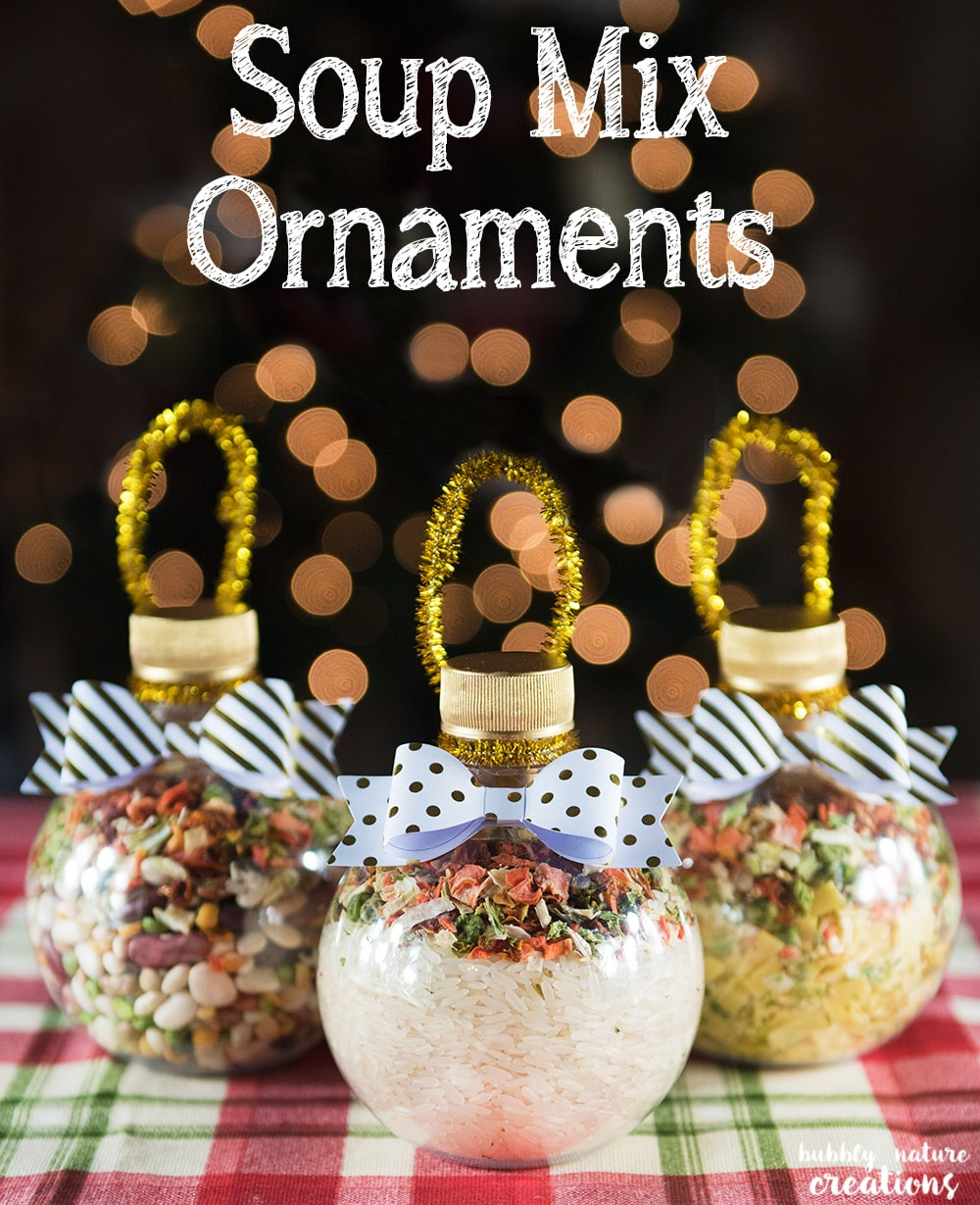 Soup mix ornaments sprinkle some fun
