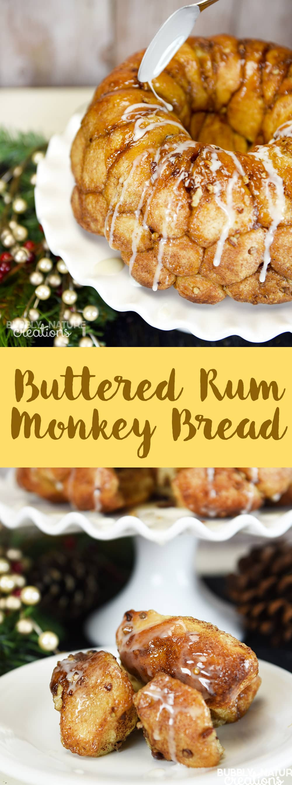 Buttered Rum Monkey Bread! Quite possible the best Christmas breaskfast item!!!
