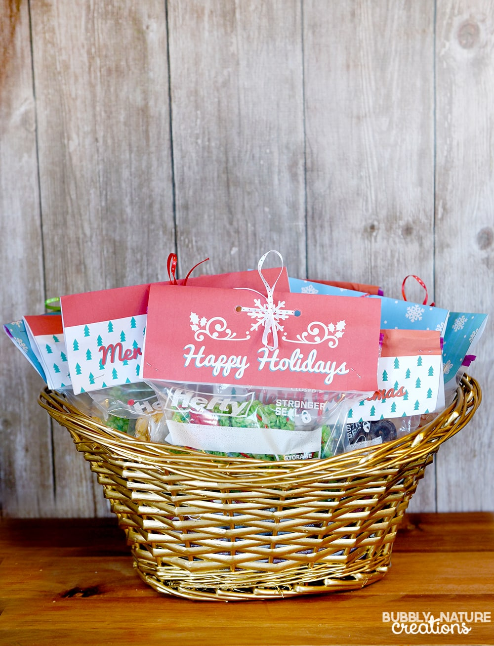 Easy Hefty Bag Toppers 4 Holiday gifts!!