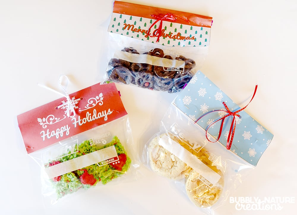 Easy Hefty Bag Toppers for Holiday gifts!