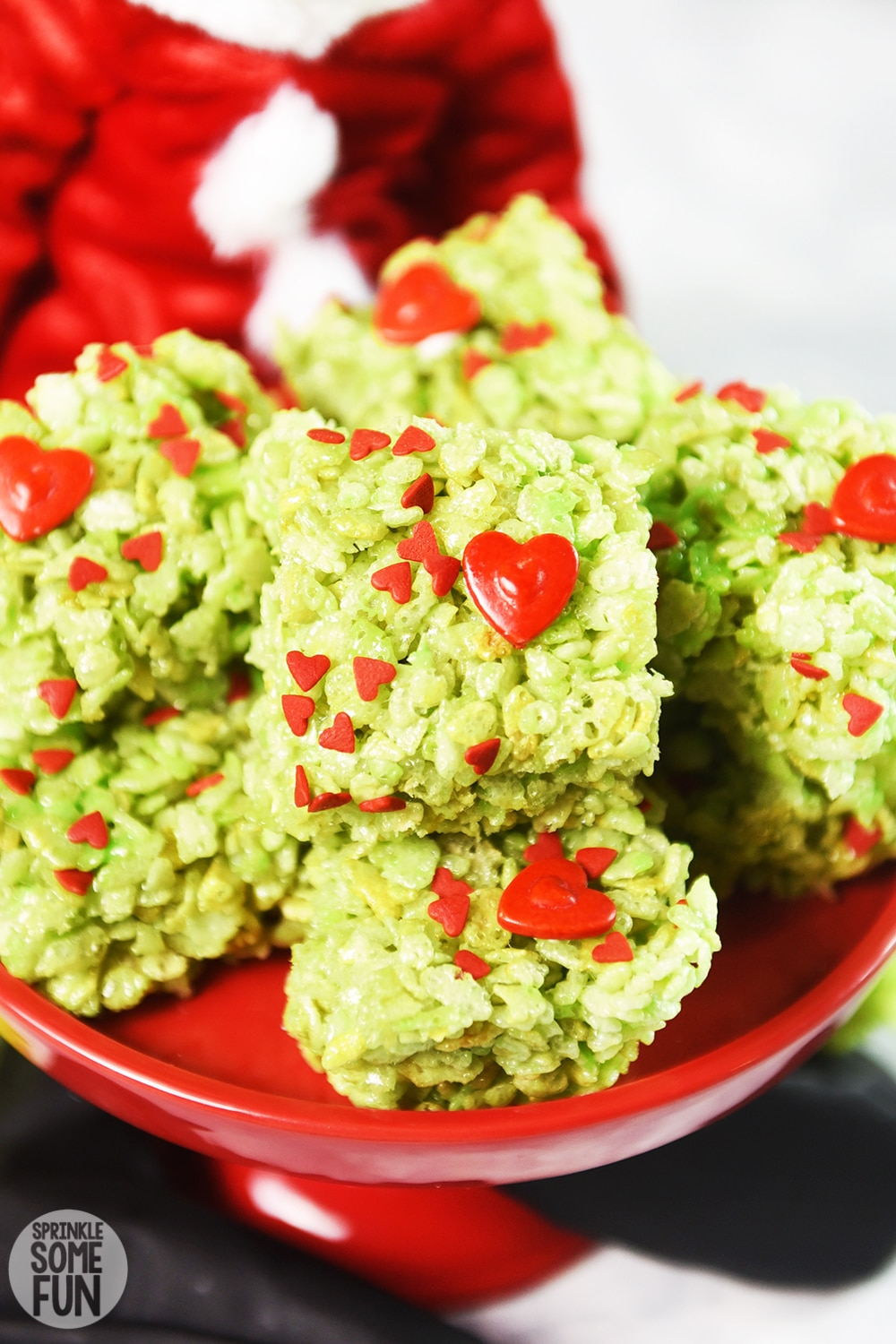 Grinch Rice Krispie Treats Holiday Treat