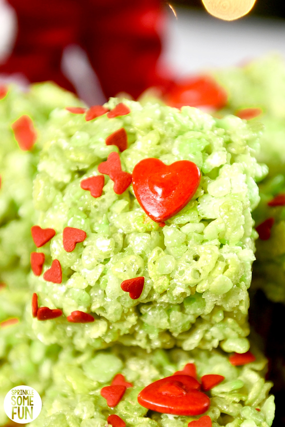 Grinch Rice Krispie Treats