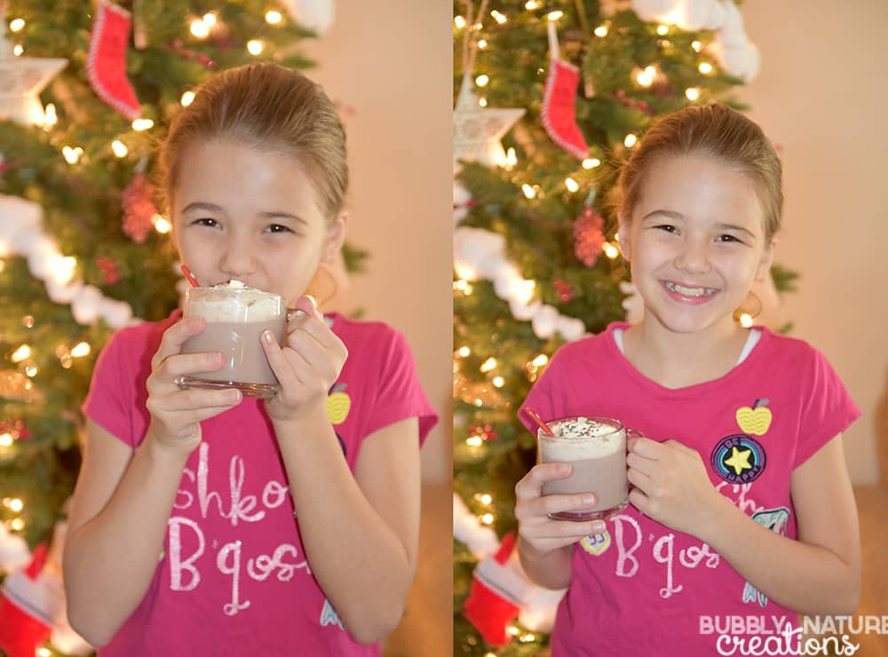 Hot Chocolate Milk for a Christmas treat