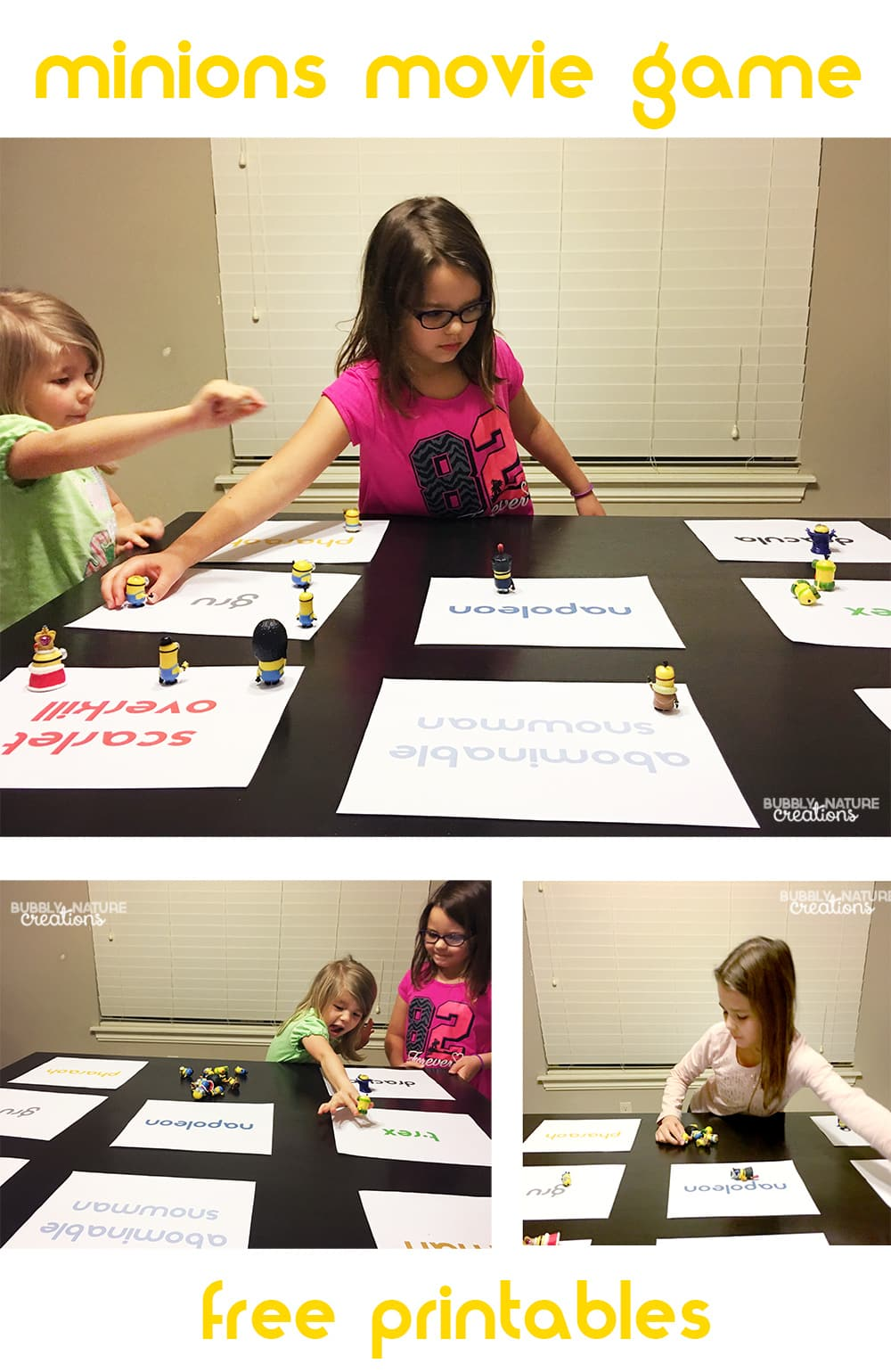 Minions Movie Game with free printables!