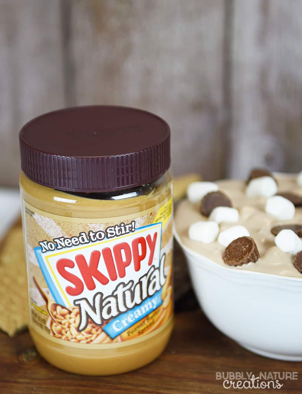 Peanut Butter Cup Smores Dip.. Love the peanut butter addition to this. So tasty!