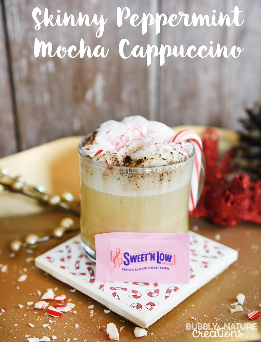 Skinny Peppermint Mocha Cappuccino! Such a yummy holiday drink!!