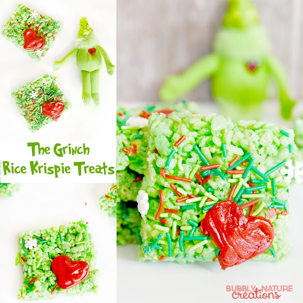 Grinch Rice Krispie Treats original.