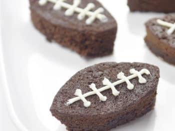 Easy Football Brownies