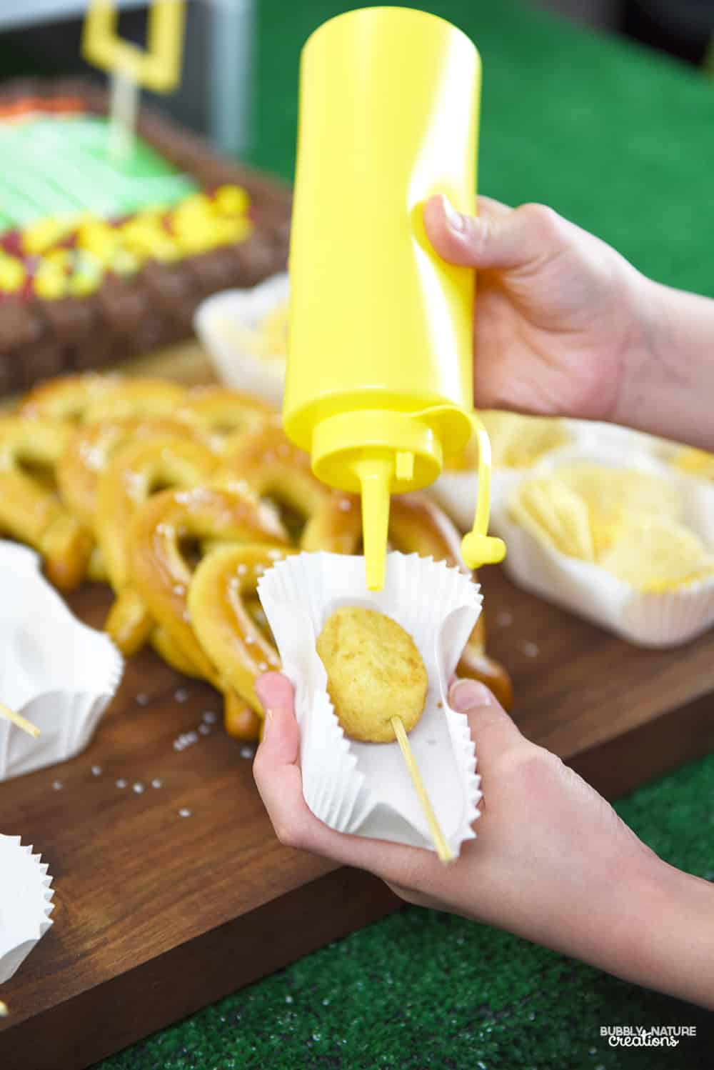 Football Party Concession Stand! Such a fun party idea!