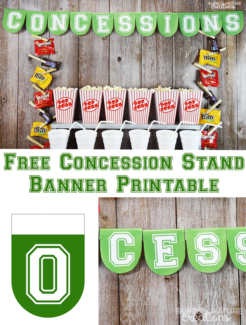 Free Concession Stand Banner Printable! Great for a sports themed party!
