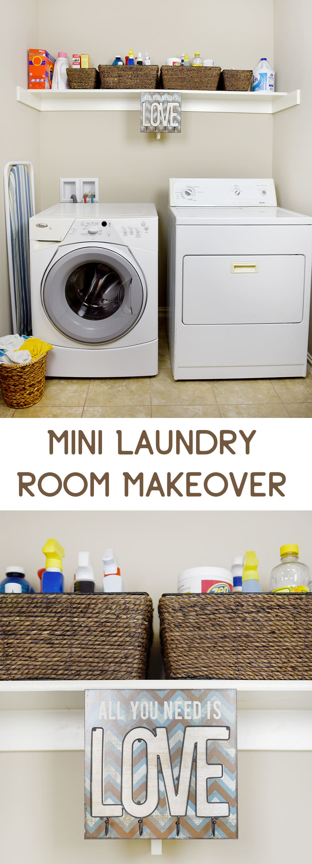 Mini Laundry Room Makeover - Sprinkle Some Fun
