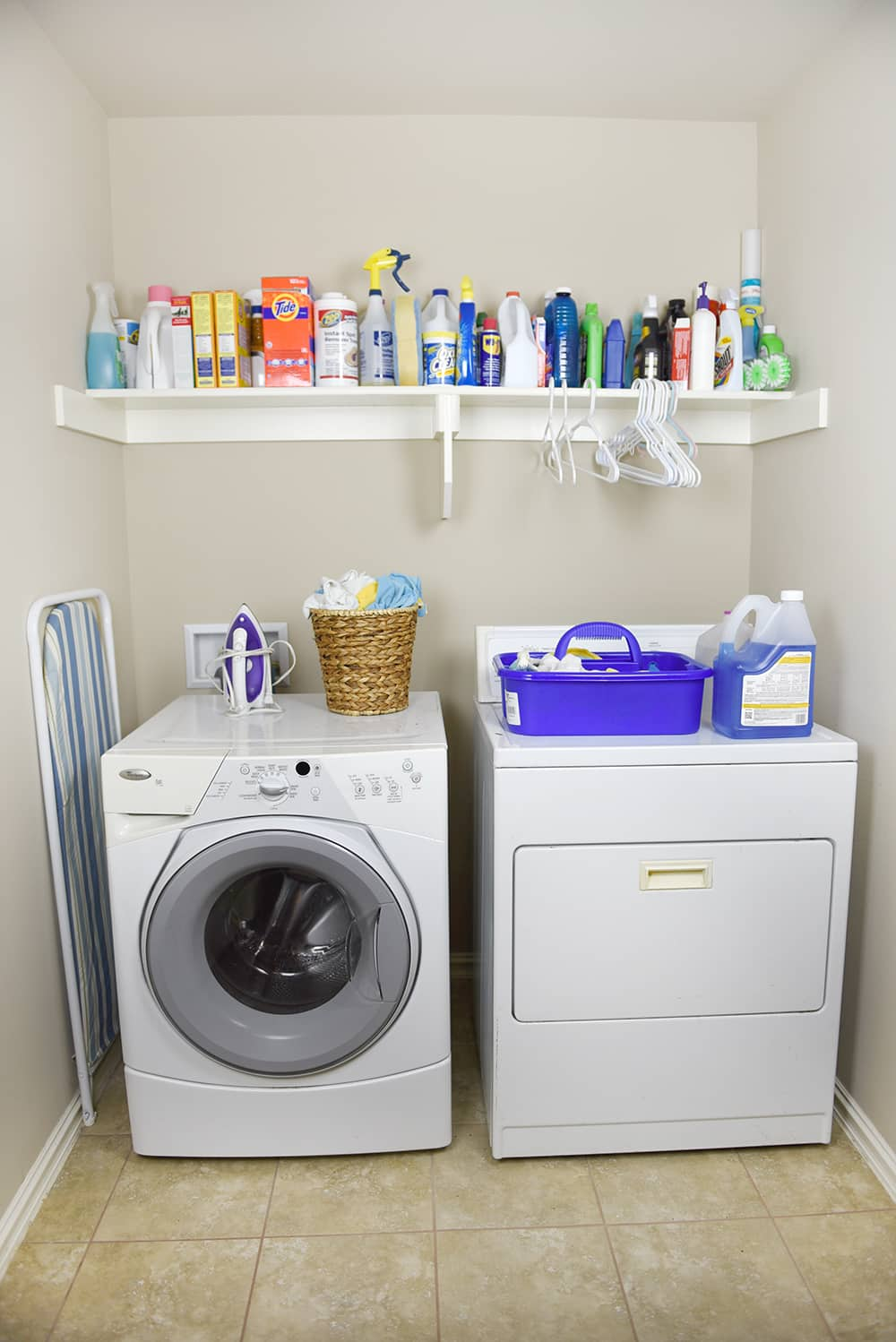 Mini Laundry Room Makeover before...
