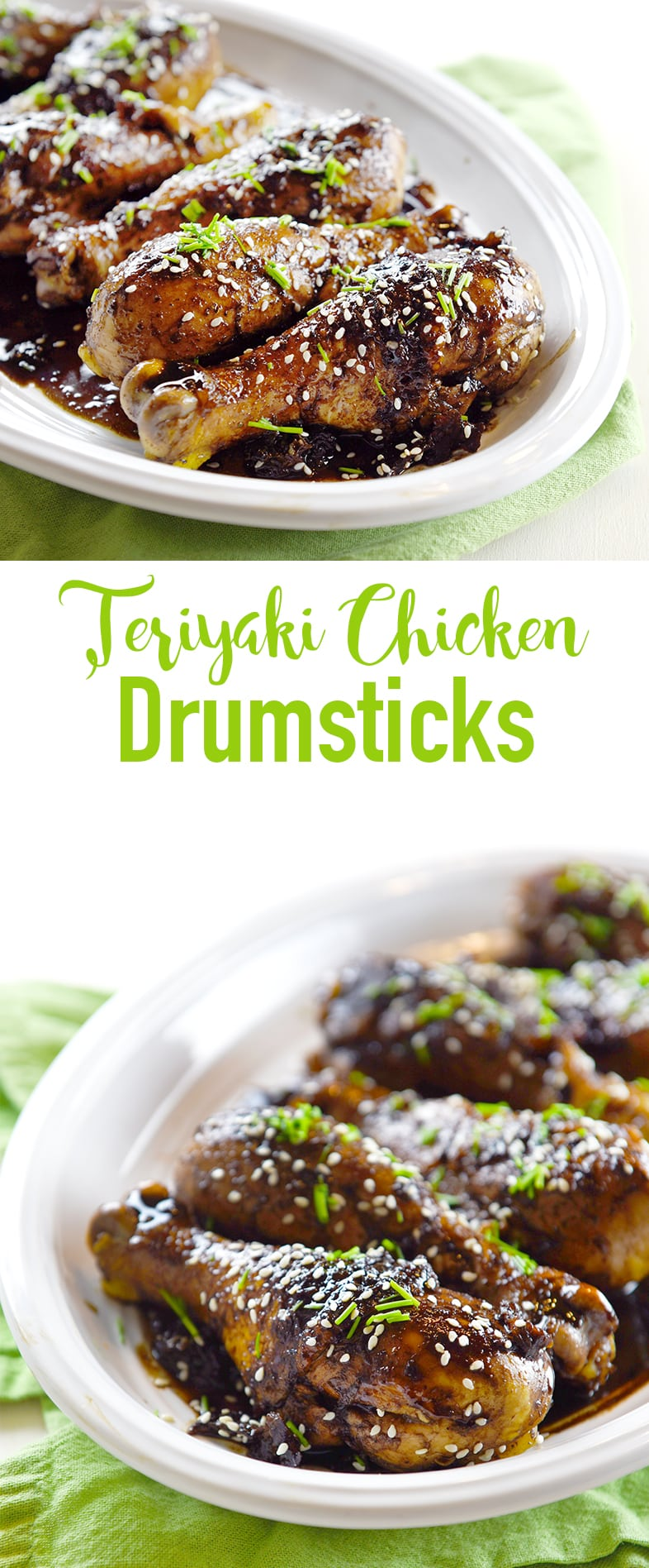Teriyaki Chicken Drumsticks w low carb sauce! So good and perfect for game day or a weeknight dinner idea