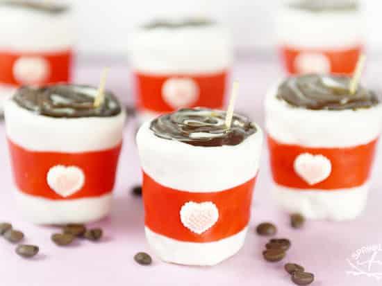 """I Love You a Latte"" Valentine Rice Krispies Treats"