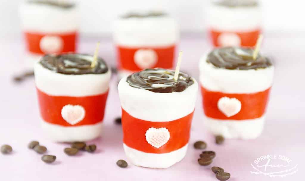 I Love You A Latte Valentine Rice Krispie Treats!