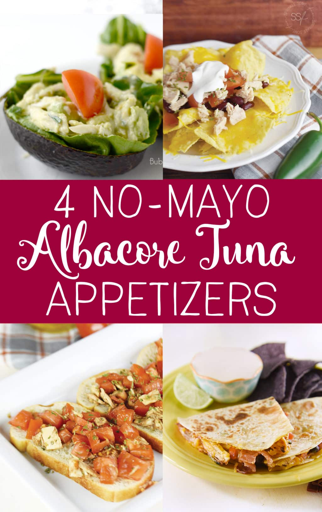 4 No Mayo Albacore Tuna Appetizers! Use these great ideas for tuna that are totally unexpected!