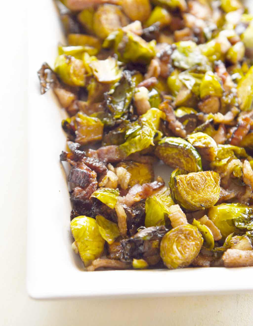 Balsamic and Bacon Roasted Bussels Sprouts! A favorite side dish loved by all who try it. Sweet, salty and wonderful!