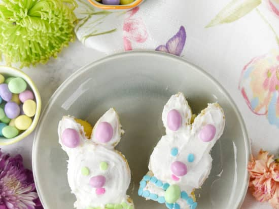 Bunny Mini Cakes and Floral & Candy Basket