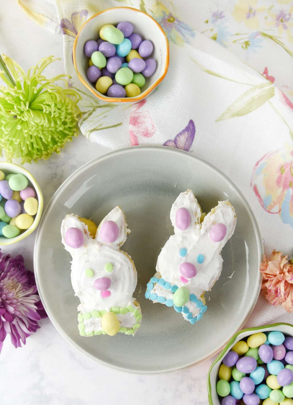 Bunny Mini Cakes made from Cupcakes! Such a fun and easy recipe idea!