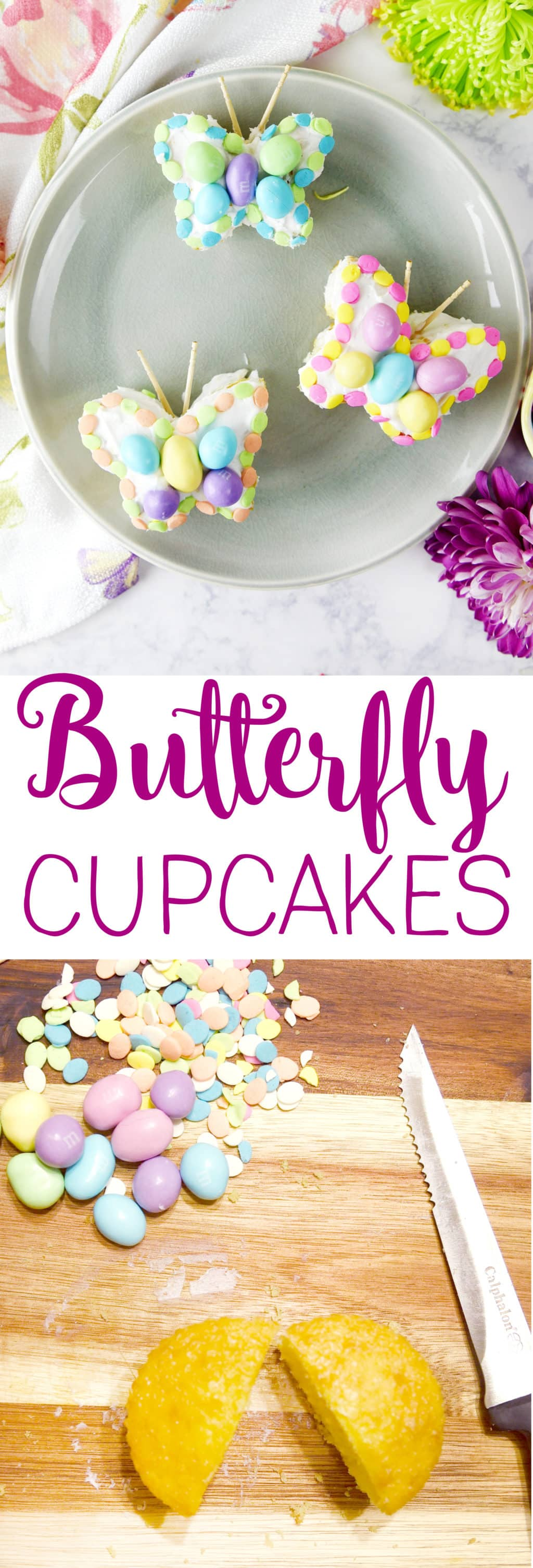 Butterfly Cupcakes made from a regular Cupcake!! So pretty and cute for spring and Easter!!!