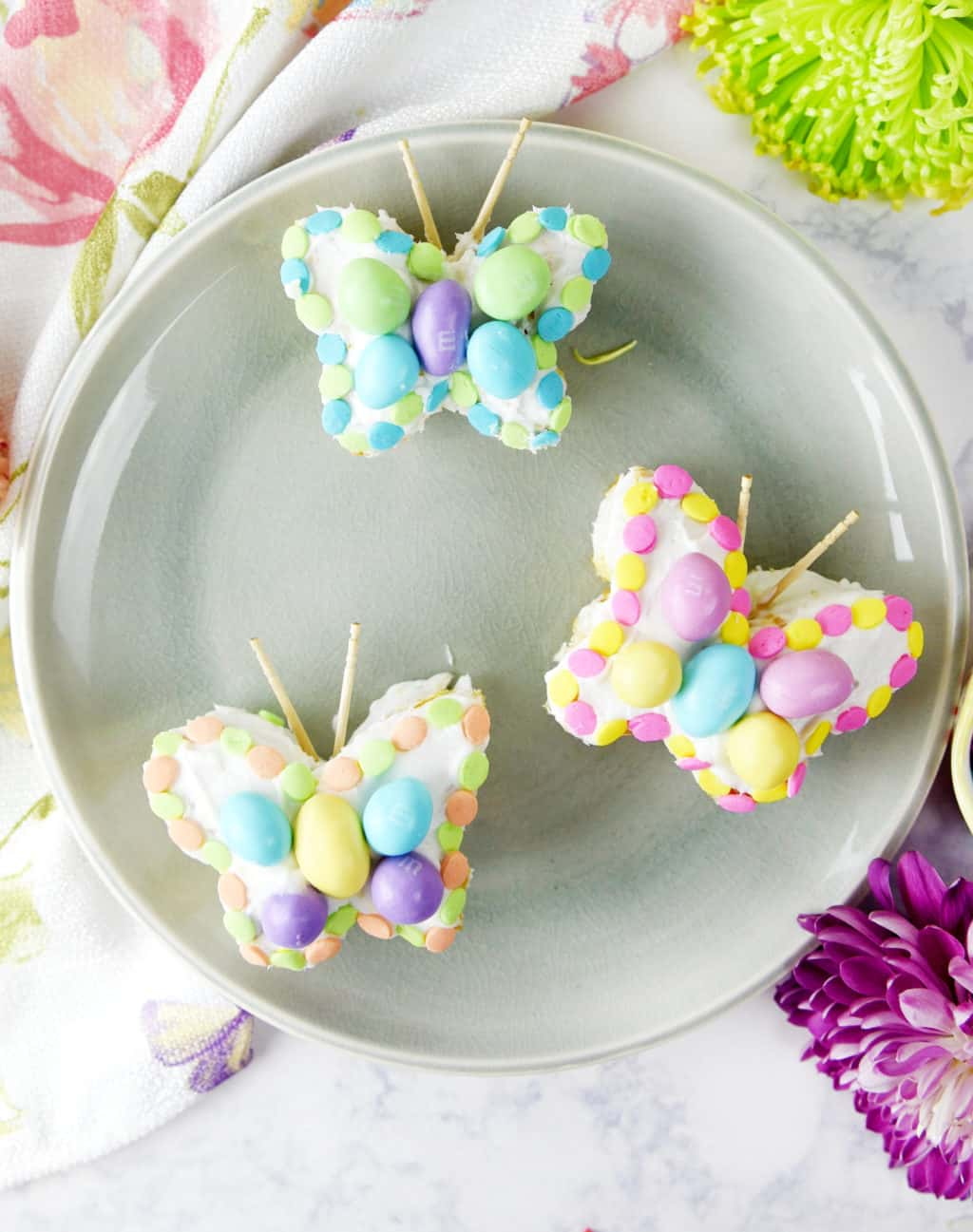 Butterfly Mini Cakes made from Cupcakes!! So pretty and cute for spring and Easter!!