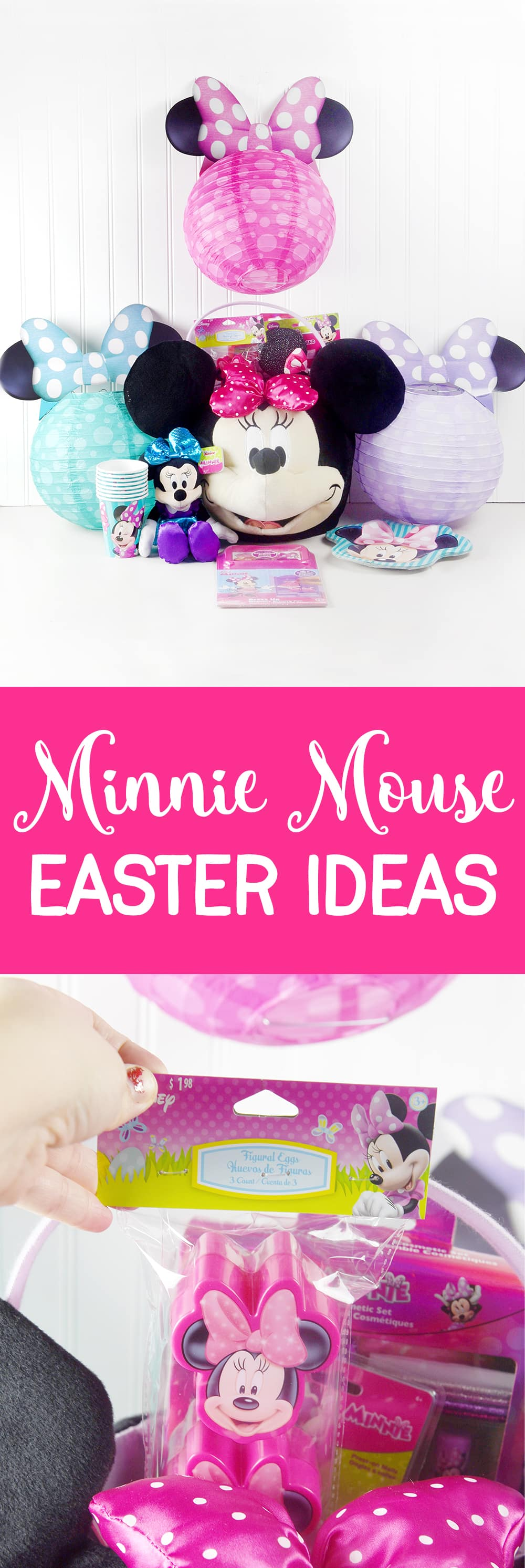 Minnie Mouse Easter Ideas! Fun ideas for the Minnie Mouse lover at Easter!
