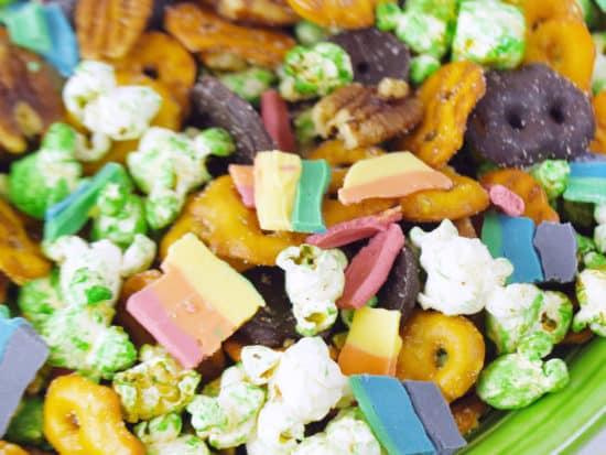 Rainbow St. Patrick's Day Snack Mix