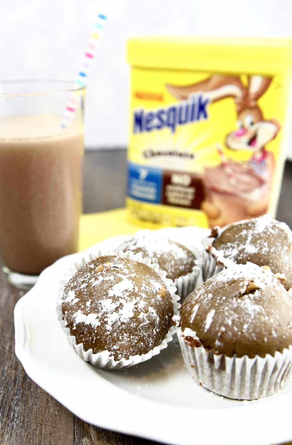 Milk Chocolate Peanut Butter Breakfast Muffins